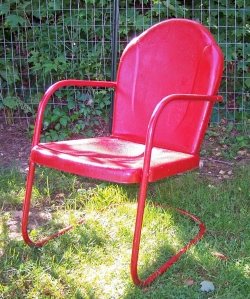 Metal Chair Red