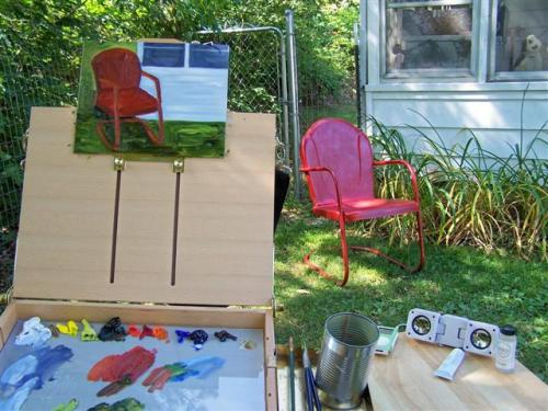 Red Chair in progress 1 (Small)