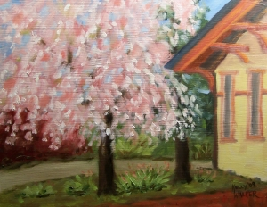 Weeping Cherry at the Train Station Completed