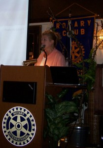 Speaking to Linden Rotary Club
