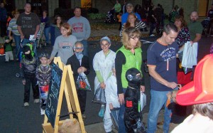 Halloween Line up and down the street
