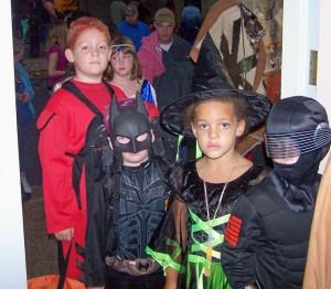 Halloween Line up out the door