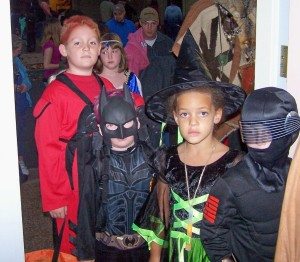 Halloween Line up out the door