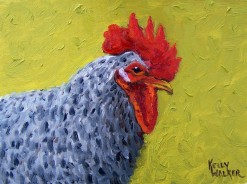 """Mean Rooster I"", oil, 6""x8"""