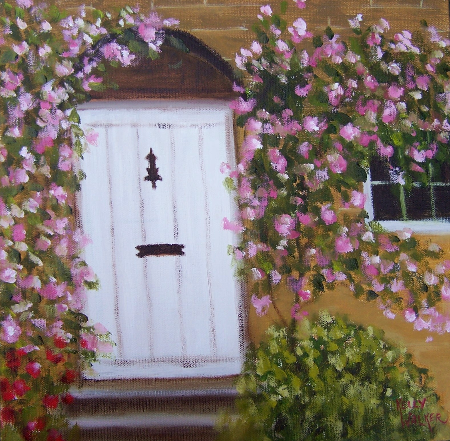 Roses by the door life of a daily painter for 12 dozen roses at your door