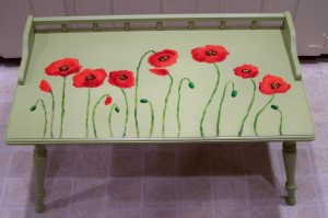 Sunflower Cabinet and Poppy Coffee Table