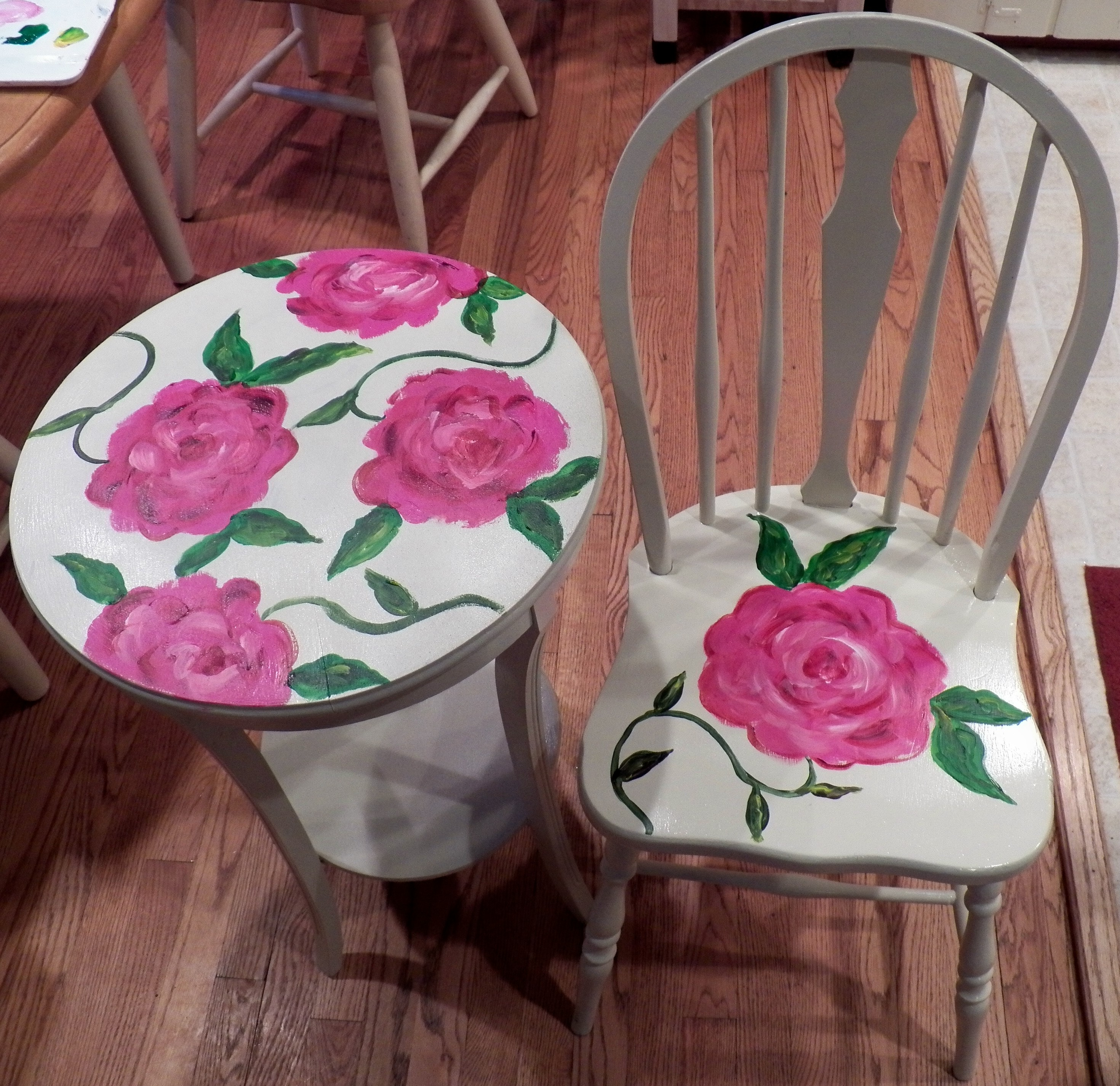 Furniture Side Table And Chair