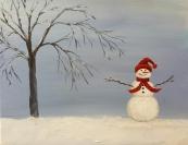 Lone Snowman