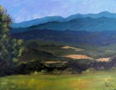 "Overlook View from Dickey Ridge III Shenandoah National Park oil on canvas, 9""x12"" $245"