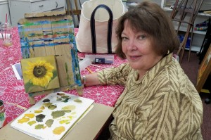 Kathy with SUnflower at class
