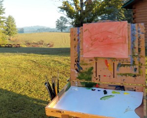 Plein Air Painting at Camp Shepherd