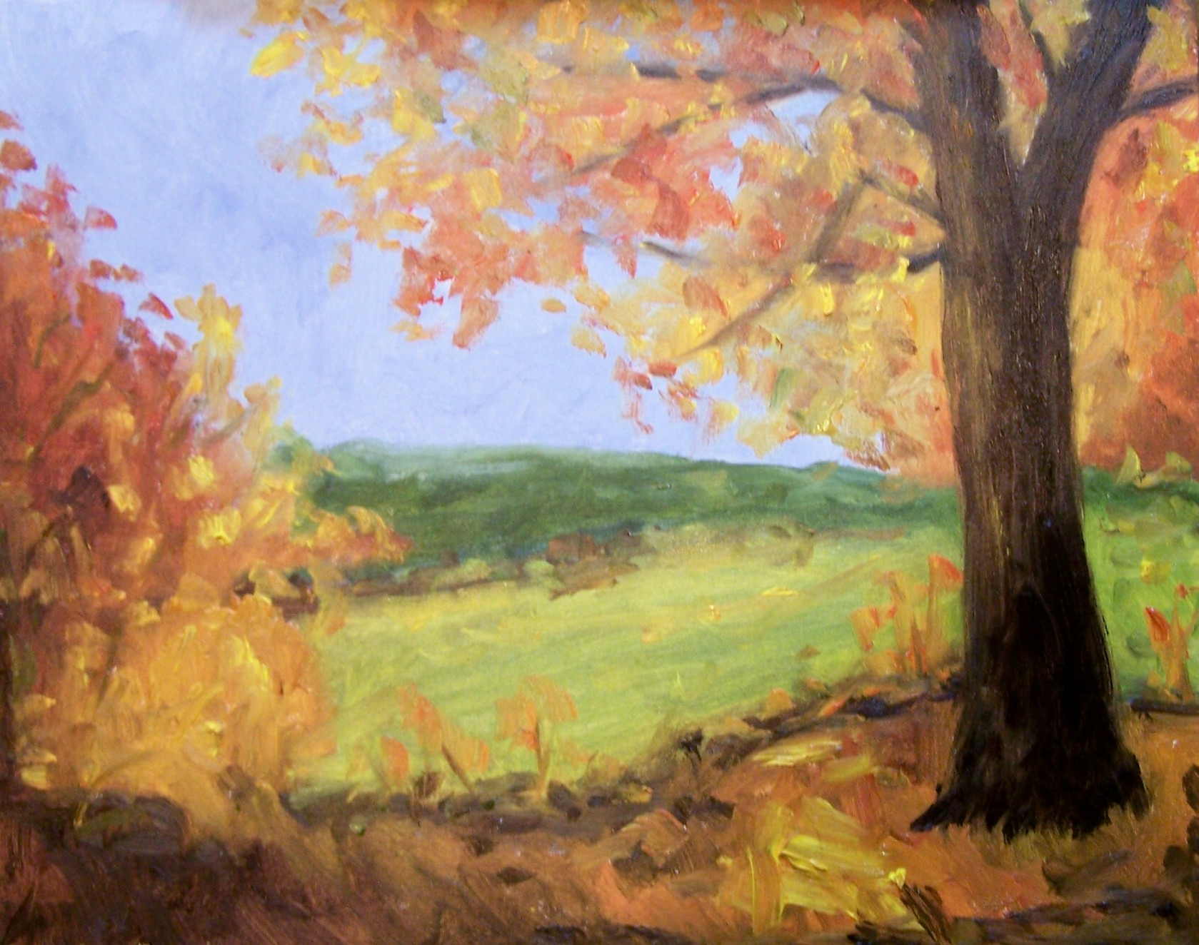 The gallery for easy fall paintings for Fall paintings easy