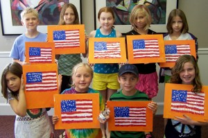 Kids with Johns Flags