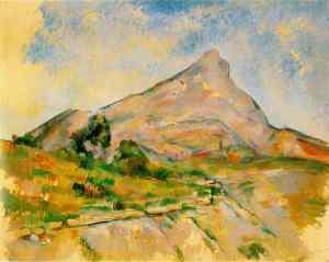 Le Mont Sainte-Victoire c. 1897-98; Oil on canvas