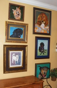 Dog Portraits on Wall