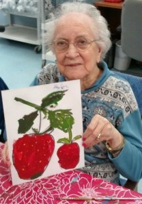 Miss Gaylor with Strawberries