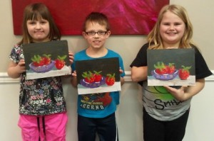 Kids Paint Berries