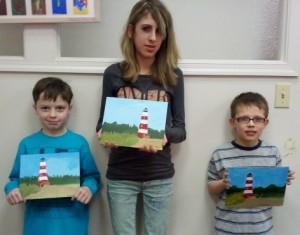 The Finished Lighthouse Painting