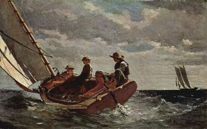 "Winslow Homer's ""Breezing Up"", 1876, National Gallery of Art"