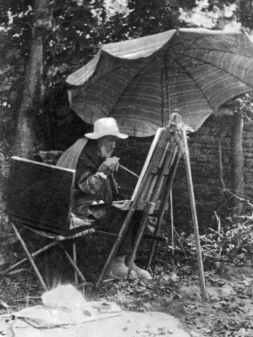 artist-pierre-auguste-renoir-painting-with-brush-tied-to-his-arthritic-hand-last-days-of-his-life