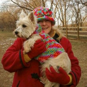 Mamie's sweater and my matching hat.  Photo by Sandra Patterson.