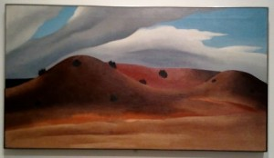 O'Keeffe, Grey Hills Painted Red, 1930