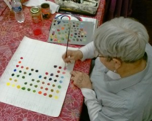 Adult Class  Pat with color chart