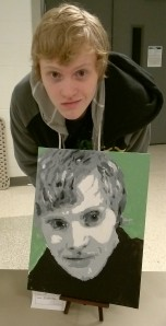 Reece with Self Portrait