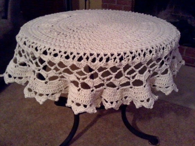 Free Crochet Tablecloth Pattern A Place For Learning