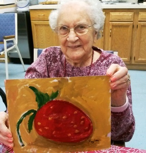 Miss Gaylor - the Queen of Strawberry paintings