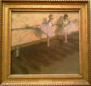 Dancers Practicing at the Barre Edgar Degas