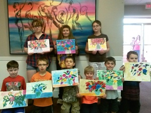 Kids class abstract flowers