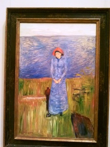 Woman in Blue against Blue Water Edvard Munch