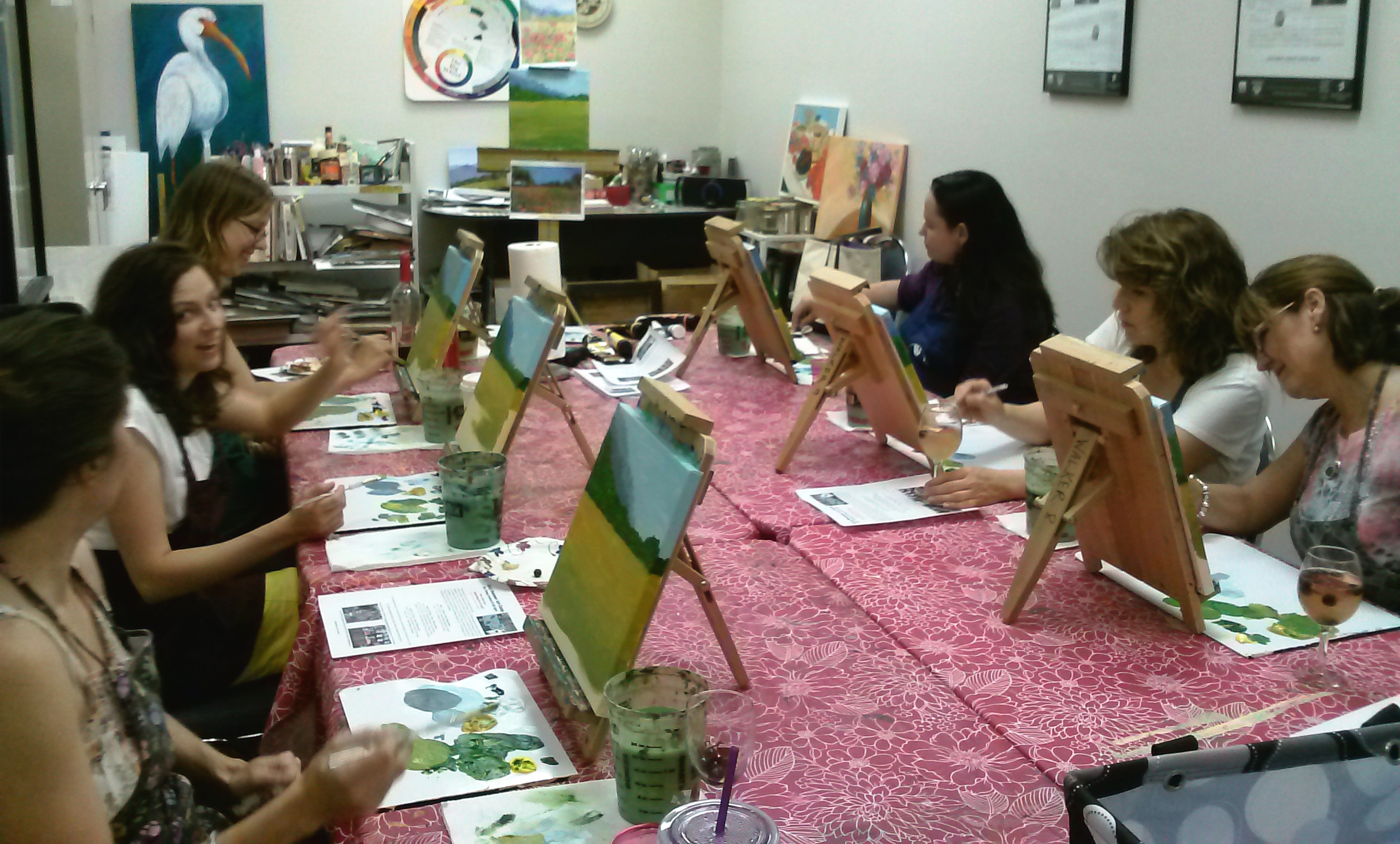 Paint parties are fun for all a place for learning for How to learn to paint