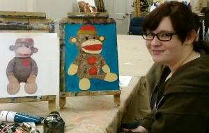 Art Class Logan with Sock Monkey
