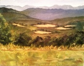 "Overlook from Dickey Ridge II in Plein Air 11""x14"", Oil on Canvas SALE PRICE:  $40"