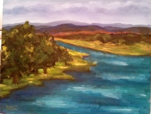 "The RIver's Full 11""x14"", Oil on Canvas SALE PRICE:  $40"