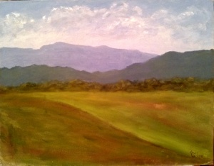 "View from the Meadow 14""x18"", Oil on Canvas SALE PRICE:  $45"