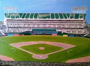 O co. Coliseum Oakland Athletics