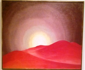 Georgia O'Keeffe Red Hills, Lake George 1927