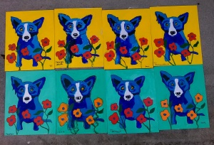 Art Camp Rodriguez Blue Dog Aug 2