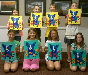 Art Camp Rodriguez Blue Dog Aug