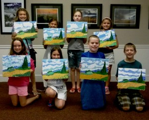 Art Campers Paint Van Gogh