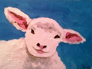 "Annabelle II oil on canvas, 6""x8"" SALE PRICE - $20"