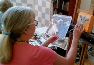 Nancy Demonstrating Stage 2 in the process - Cow
