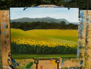 Sunflowers - Painting about 90% complete