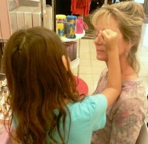 Doing Grandma's make-up