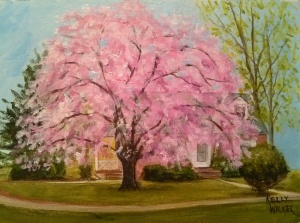 """Completed painting of """"Stacy's Tree"""""""