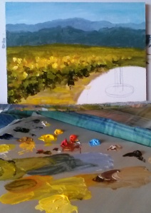 Step 3 - Adding middle distance - vineyards