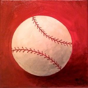 Baseball on Red
